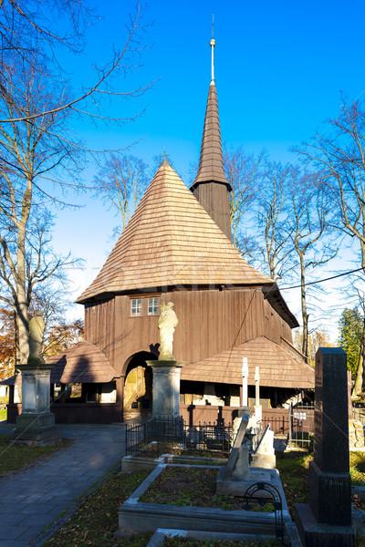 wooden church of Holy Virgin Mary, Broumov, Czech Republic Stock photo © phbcz