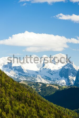 view to Dachstein from the west, Upper Austria-Styria, Austria Stock photo © phbcz