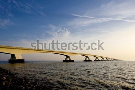 Сток-фото: Нидерланды · воды · здании · моста · архитектура · конкретные