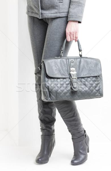詳細 立って 女性 着用 グレー ブーツ ストックフォト © phbcz