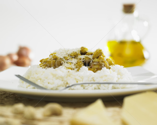turkey on kari with nuts and rice Stock photo © phbcz