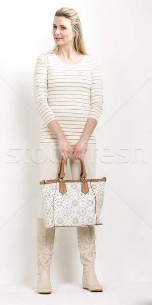 立って 女性 着用 夏 ブーツ ハンドバッグ ストックフォト © phbcz