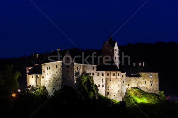 Kastély éjszaka Csehország utazás építészet kint Stock fotó © phbcz