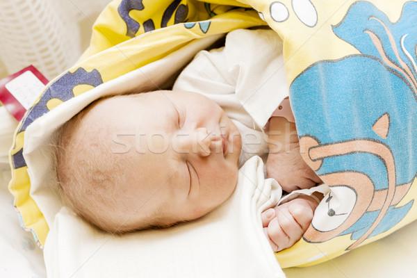 Retrato recién nacido maternal hospital nina Foto stock © phbcz