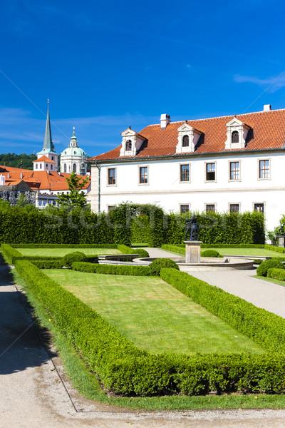 Jardin Prague République tchèque maison ville église Photo stock © phbcz