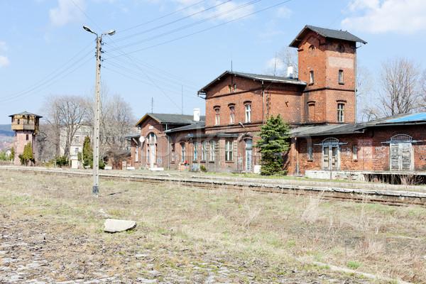 Velho estação de trem Polônia Foto stock © phbcz
