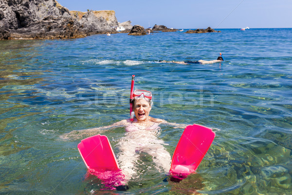 Mediterráneo mar Francia verano relajarse Foto stock © phbcz