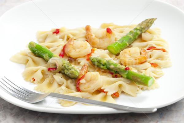Hot makaronu szparagów żywności warzyw Zdjęcia stock © phbcz