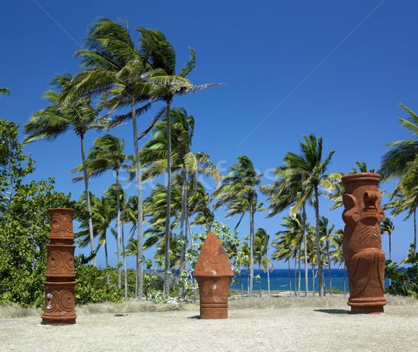 memorial of Christopher Columbus's landing, Bahia de Bariay, Hol Stock photo © phbcz