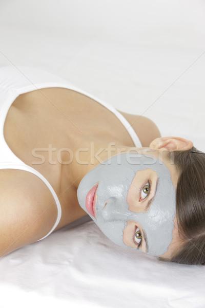 Ritratto donna maschera bellezza facce giovani Foto d'archivio © phbcz