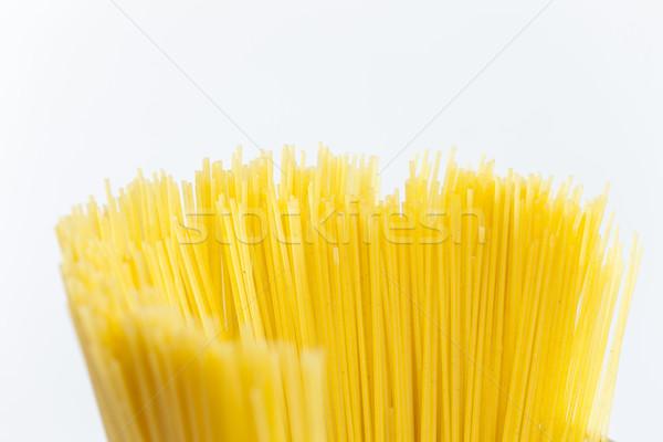 Spaghetti voedsel pasta binnenkant ruw veel Stockfoto © phbcz