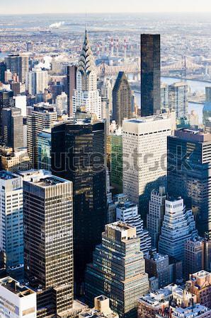 Kilátás Manhattan Empire State Building New York USA város Stock fotó © phbcz