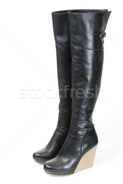 ファッショナブル プラットフォーム 黒 ブーツ スタイル ストックフォト © phbcz