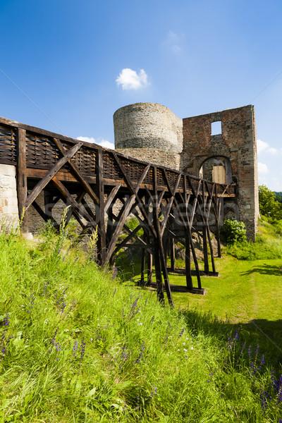 Ruines kasteel Tsjechische Republiek gebouw reizen architectuur Stockfoto © phbcz