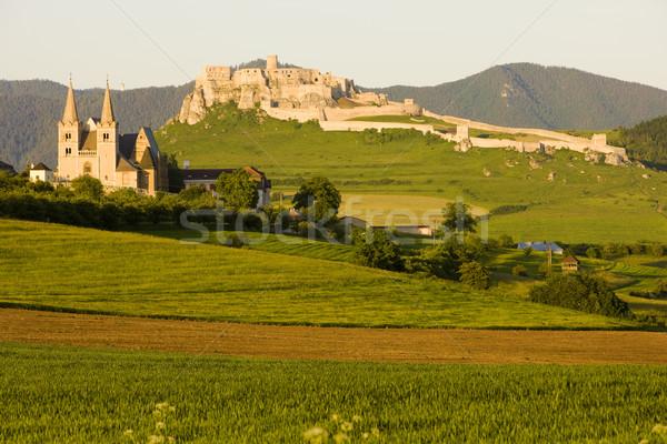 Capítulo castillo Eslovaquia edificio iglesia edificios Foto stock © phbcz