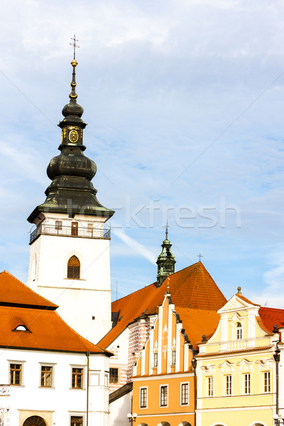 Masaryk Square, Pelhrimov, Czech Republic Stock photo © phbcz