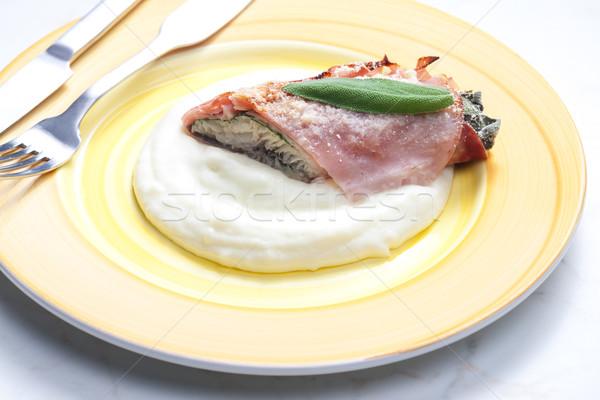 Filet forel salie Praag ham Stockfoto © phbcz