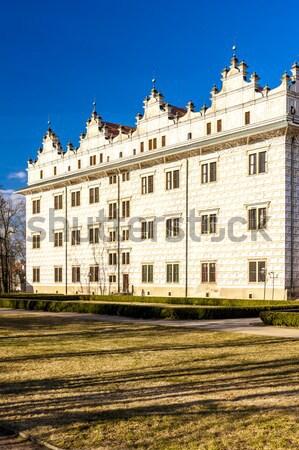 Principale carré Pologne architecture maisons apprentissage Photo stock © phbcz