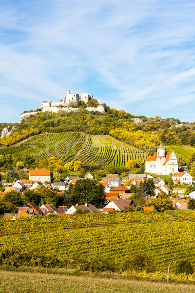 ruins of Falkenstein Castle in autumn, Lower Austria, Austria Stock photo © phbcz
