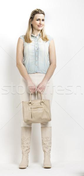 Stałego kobieta lata buty torebka Zdjęcia stock © phbcz