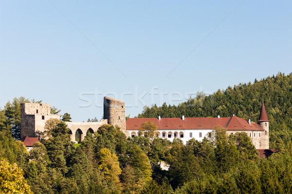 Ruinas castillo República Checa viaje arquitectura aire libre Foto stock © phbcz