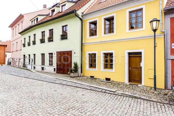 四半期 チェコ共和国 家 建物 市 アーキテクチャ ストックフォト © phbcz