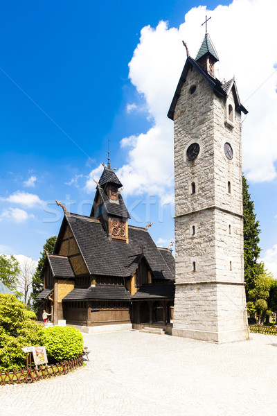 Karpacz Church, Silesia, Poland Stock photo © phbcz