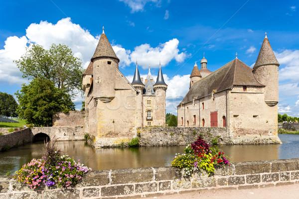 Chateau de la Clayette, Burgundy, France Stock photo © phbcz
