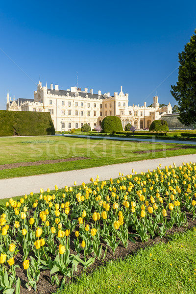 Stock photo: Lednice Palace with garden, Czech Republic