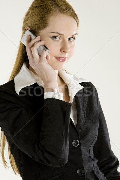 portrait of telephoning businesswoman Stock photo © phbcz