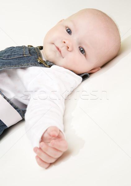 Portret kinderen kind veiligheid Stockfoto © phbcz