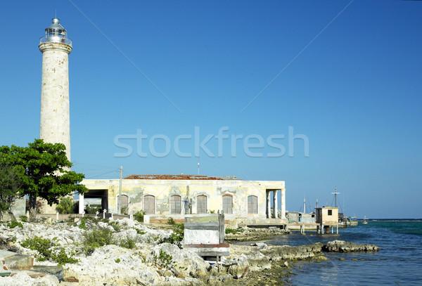 lighthouse, Cabo Cruz, Parque Nacional Desembarco del Granma, Gr Stock photo © phbcz
