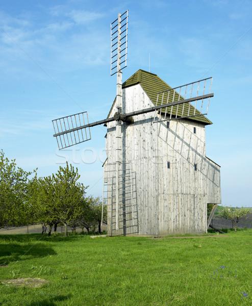 Molino de viento República Checa molino Foto stock © phbcz