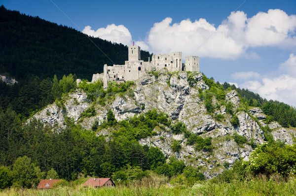ruins of Strecno Castle, Slovakia Stock photo © phbcz