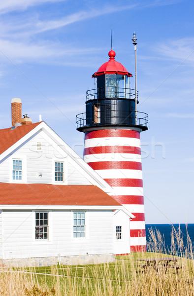 Batı kafa deniz feneri Maine ABD Bina Stok fotoğraf © phbcz