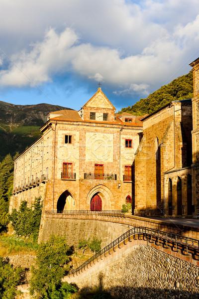 Manastır İspanya Bina mimari açık havada Stok fotoğraf © phbcz