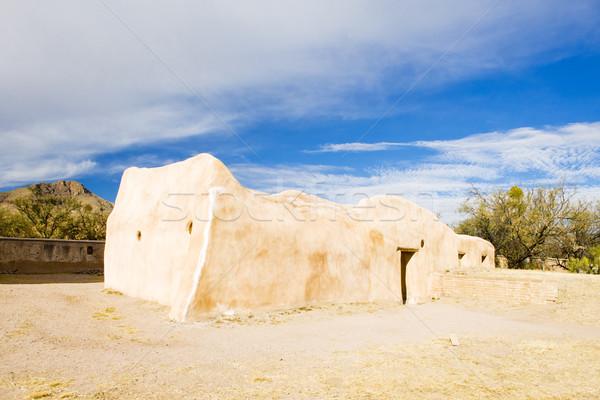 Küldetés Arizona USA építészet történelem kint Stock fotó © phbcz