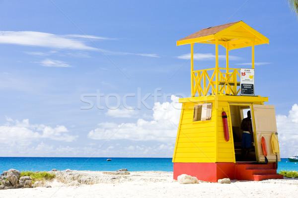 Kabin plaj Barbados caribbean deniz Stok fotoğraf © phbcz