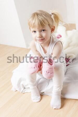 Baba gyerekek gyermek lányok gyerek babák Stock fotó © phbcz