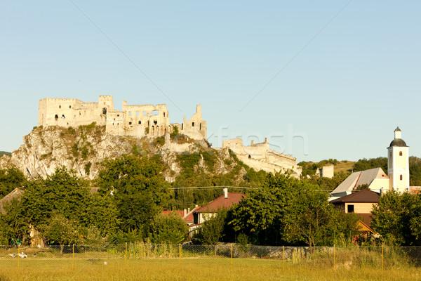 Ruínas castelo Eslováquia edifício arquitetura ao ar livre Foto stock © phbcz