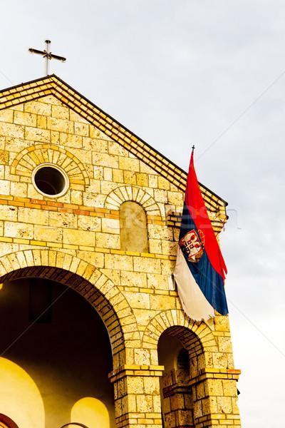 Pormenor igreja Sérvia edifício viajar arquitetura Foto stock © phbcz