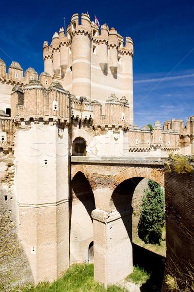 Kale İspanya binalar mimari kule ortaçağ Stok fotoğraf © phbcz