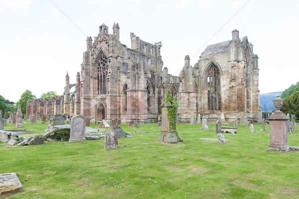Ruines abdij Schotland gebouw architectuur Stockfoto © phbcz