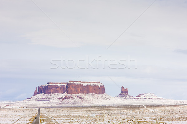 Monument Valley National Park in winter, Utah, Arizona, USA Stock photo © phbcz
