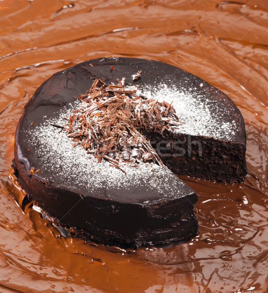still life of chocolate with chocolate cake Stock photo © phbcz