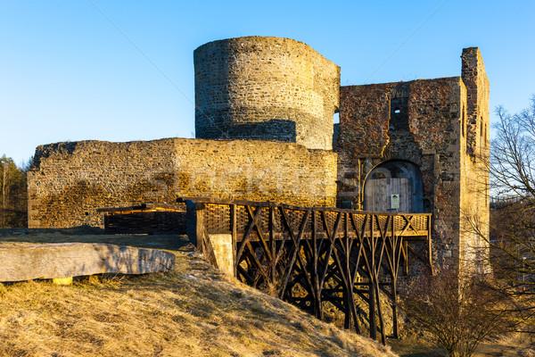 Ruines château République tchèque bâtiment Voyage architecture Photo stock © phbcz