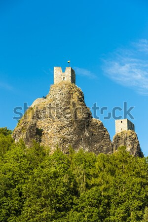ruins of Trosky Castle, Czech Republic Stock photo © phbcz