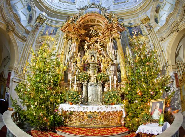 Stok fotoğraf: Iç · hac · kilise · Polonya · seyahat · binalar