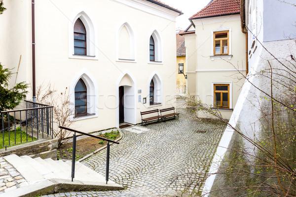 Sinagog çeyrek Çek Cumhuriyeti ev kilise Stok fotoğraf © phbcz