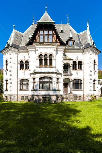 Villa Çek Cumhuriyeti ev mimari dışında Stok fotoğraf © phbcz